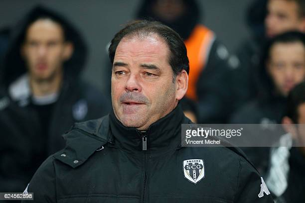 Stephane Moulin headcoach of Angers during the Ligue 1 match between Stade Rennais and Sco Angers at Stade de la Route de Lorient on November 19 2016...