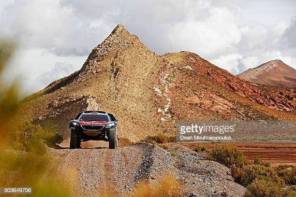 Stephane Peterhansel of France and Paul Jean Cottret of France in the PEUGEOT 2008 DKR for TEAM PEUGEOT TOTAL SOUTH AFRICA competes on day 4 and the...