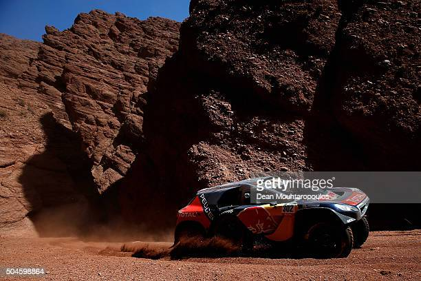 Stephane Peterhansel of France and Paul Jean Cottret of France in the PEUGEOT 2008 DKR for TEAM PEUGEOT TOTAL SOUTH AFRICA compete on day 9 stage...