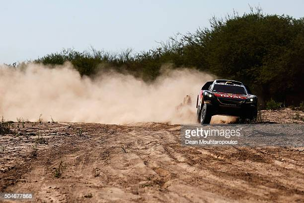 Stephane Peterhansel of France and Paul Jean Cottret of France in the PEUGEOT 2008 DKR for TEAM PEUGEOT TOTAL SOUTH AFRICA compete on day 10 stage 9...
