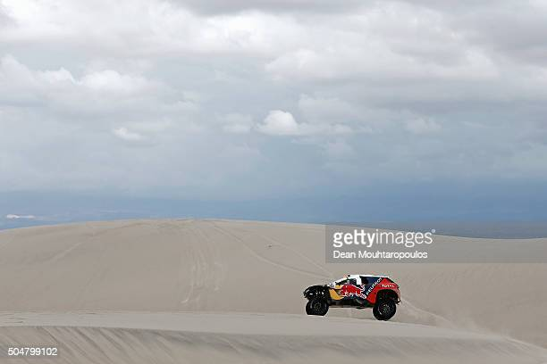 Stephane Peterhansel of France and Paul Jean Cottret of France in the PEUGEOT 2008 DKR for TEAM PEUGEOT TOTAL SOUTH AFRICA compete on day 11 stage...