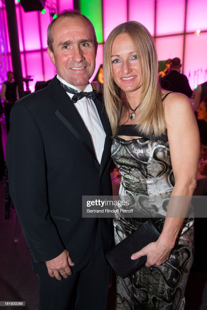 Stephane Peterhansel, rally racing driver, and his companion Andrea Mayer attend the 30th edition of 'La Nuit Des Neiges' Charity Gala on February 16, 2013 in Crans-Montana, Switzerland.