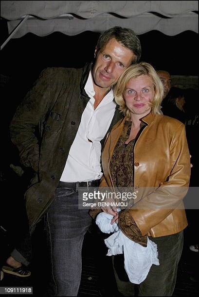 Stephane Plassier Party At 'Toupary' Restaurant On The Terrace Of Department Store La Samaritaine On September 5 2003 In Paris France Lambert Wilson...