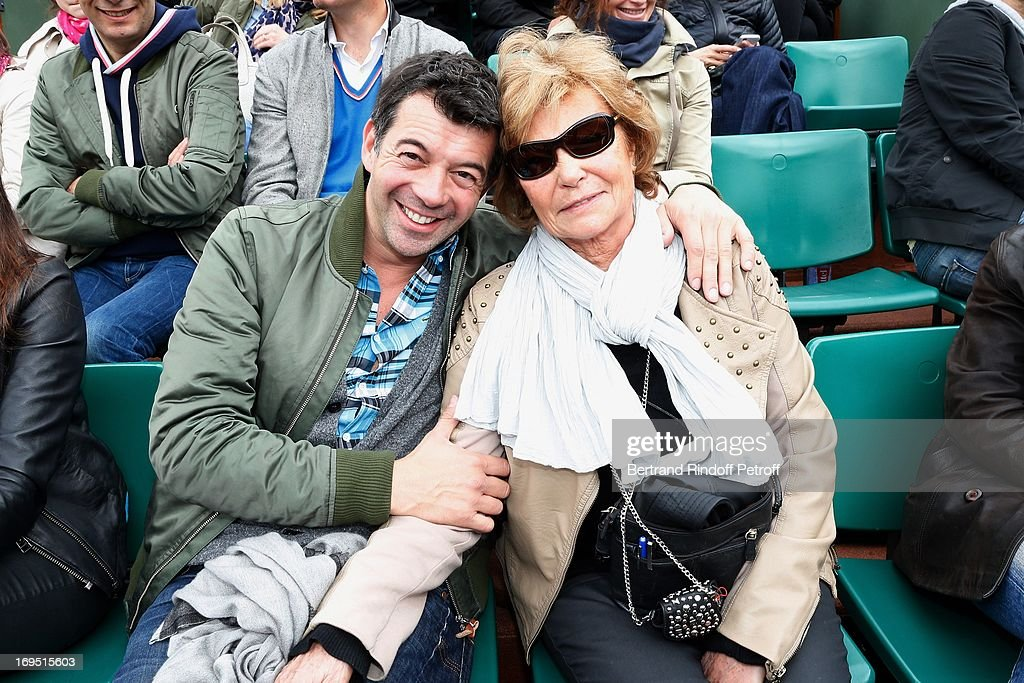 Stephane Plaza and his mother Christiane attend Roland Garros Tennis French Open 2013 - Day 1 on May 26, 2013 in Paris, France.