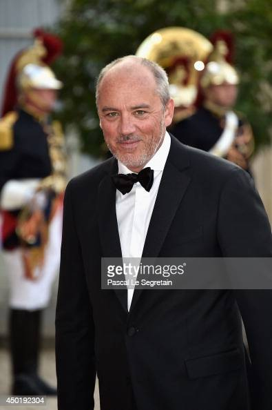 Stephane Richard chief executive officer of Orange SA arrives at the Elysee Palace for a State dinner in honor of Queen Elizabeth II hosted by French...