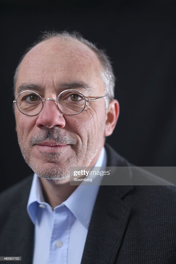 Stephane Richard chief executive officer of Orange SA poses for a photograph following a Bloomberg Television interview on day three of the World...