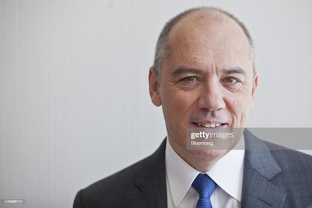 Stephane Richard chief executive officer of Orange SA poses for a photograph ahead of a news conference to announce the company's earnings in Paris...