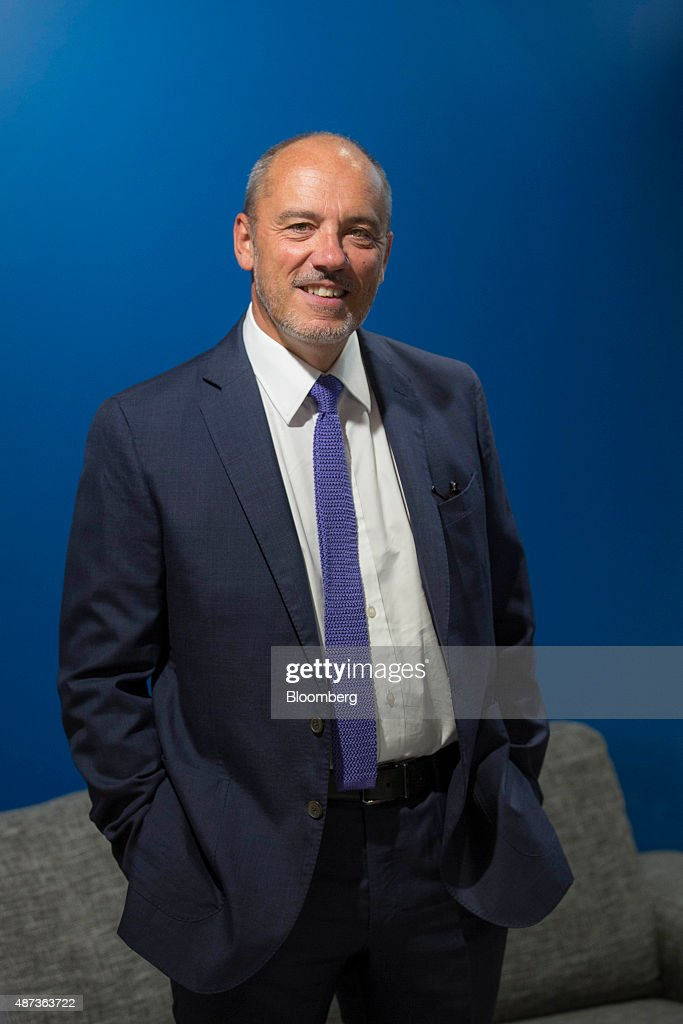 Stephane Richard chief executive officer of Orange SA poses for a photograph during the inauguration of an Orange smart store in Paris France on...