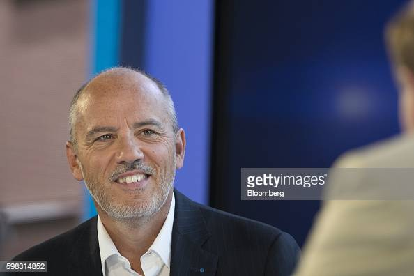 Stephane Richard chief executive officer of Orange SA reacts during a panel session at the MEDEF business conference in JouyenJosas France on...