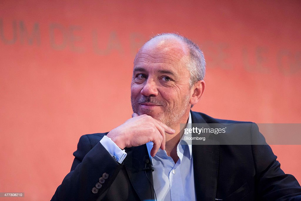 Stephane Richard chief executive officer of Orange SA reacts during the Digiworld technology conference in Paris France on Tuesday June 16 2015...