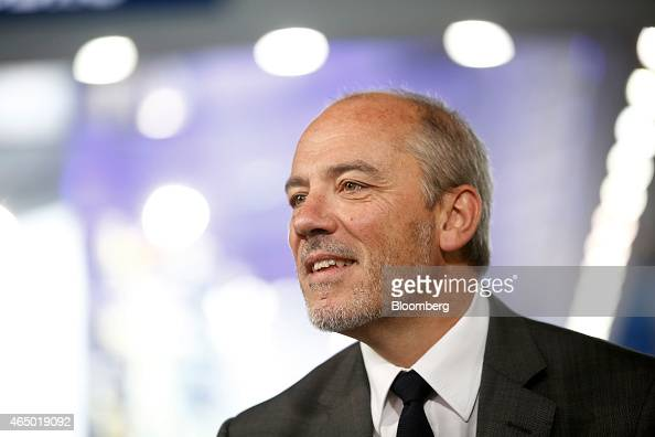 Stephane Richard chief executive officer of Orange SA speaks during a Bloomberg Television interview at the Mobile World Congress in Barcelona Spain...
