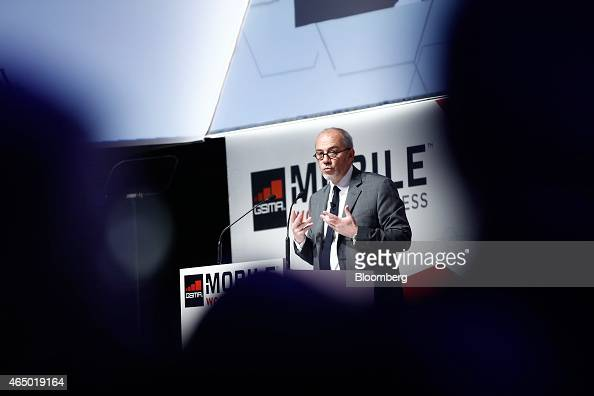 Stephane Richard chief executive officer of Orange SA speaks during a keynote session at the Mobile World Congress in Barcelona Spain on Tuesday...