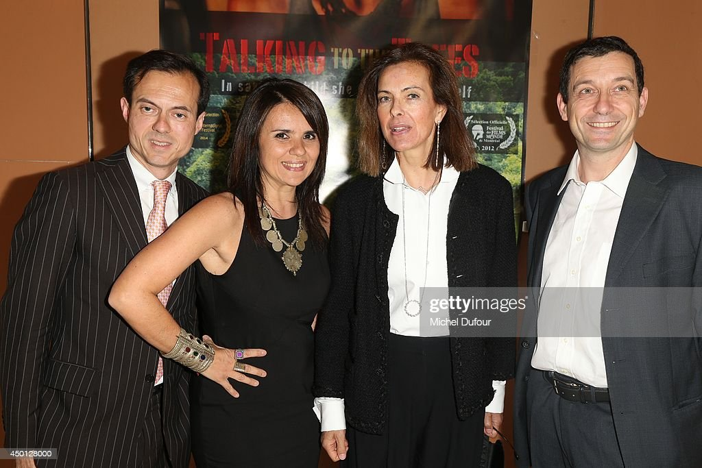 Stephane Riffier Meray, Ilaria Borelli, <a gi-track='captionPersonalityLinkClicked' href=/galleries/search?phrase=Carole+Bouquet&family=editorial&specificpeople=208685 ng-click='$event.stopPropagation()'>Carole Bouquet</a> and Guido Freddi attend the 'Parle Avec Les Arbres' Paris Premiere on June 5, 2014 in Paris, France.