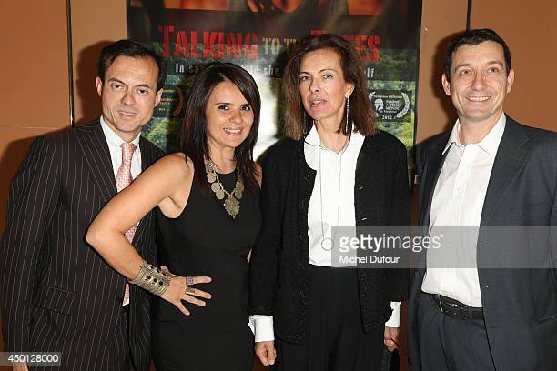 Stephane Riffier Meray Ilaria Borelli Carole Bouquet and Guido Freddi attend the 'Parle Avec Les Arbres' Paris Premiere on June 5 2014 in Paris France