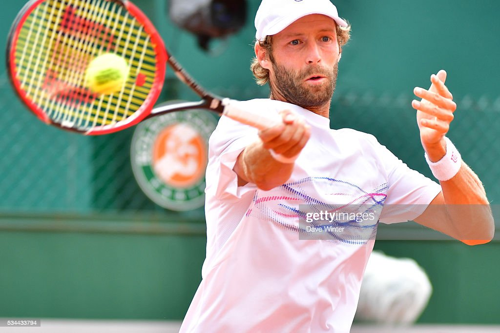Stephane Robert during the Men's Singles second round on day five of the French Open 2016 at Roland Garros on May 26, 2016 in Paris, France.