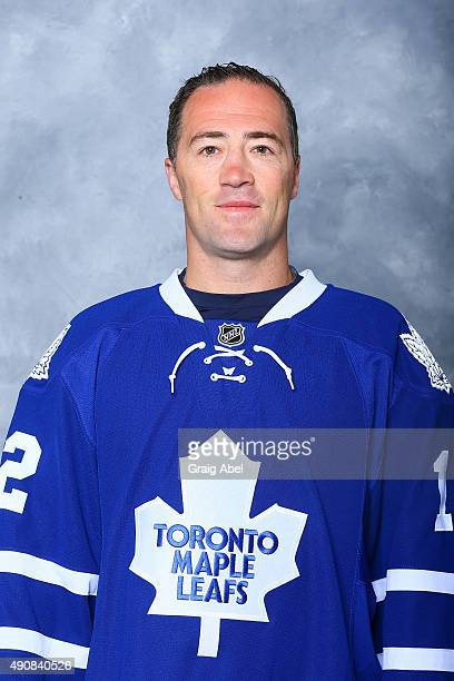 Stephane Robidas of the Toronto Maple Leafs poses for his official headshot for the 201516 season on September 17 2015 at the Mastercard in Toronto...