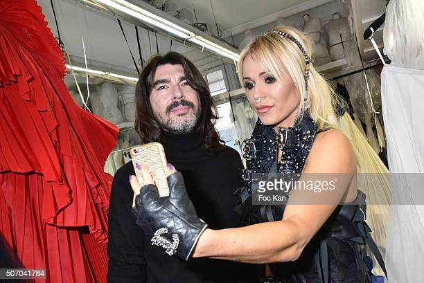 Stephane Rolland and singer Doda attend the Stephane Rolland Haute Couture Spring Summer 2016 show as part of Paris Fashion Week on January 26 2016...