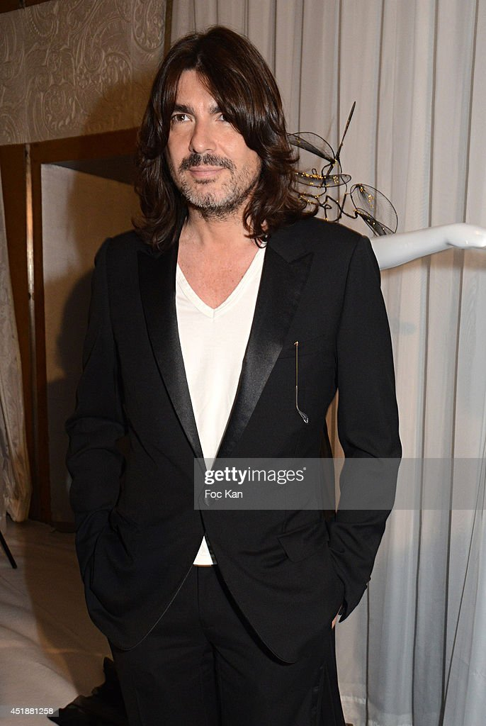 Stephane Rolland attends the Stephane Rolland Show as part of Paris Fashion Week Haute Couture Fall/Winter 20142015 at Cinema Elysees Biarritz on...