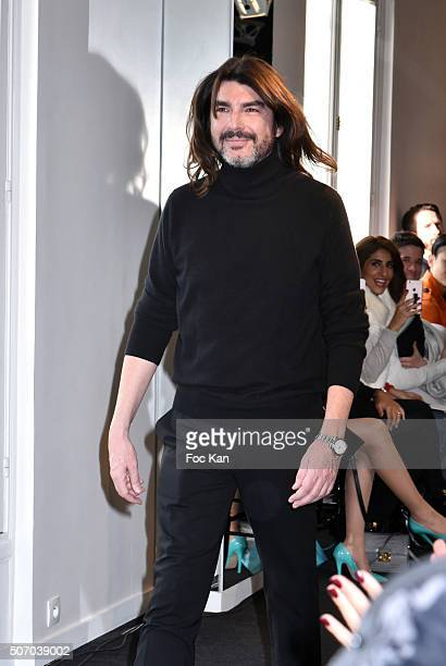 Stephane Rolland walks the runway during the Stephane Rolland Haute Couture Spring Summer 2016 show as part of Paris Fashion Week on January 26 2016...