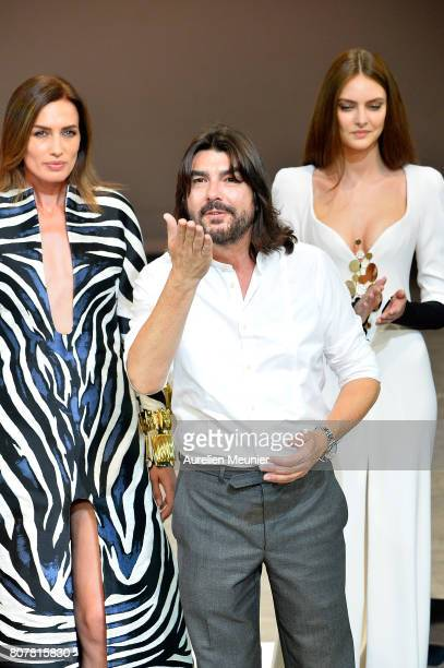 Stephane Rolland walks the runway during the Stephane Rolland Haute Couture Fall/Winter 20172018 show as part of Haute Couture Paris Fashion Week on...