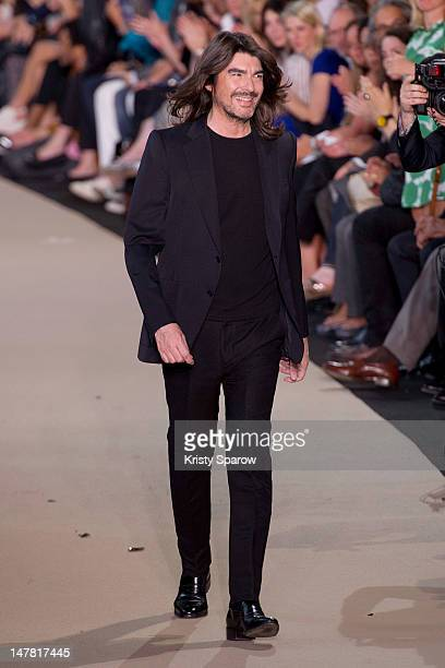 Stephane Rolland walks the runway during the Stephane Rolland HauteCouture Show as part of Paris Fashion Week Fall / Winter 2013 at Cite de...