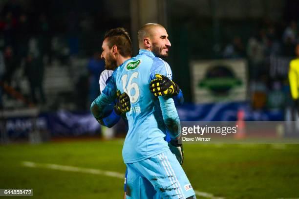 Stephane RUFFIER / Jody VIVIANI Boulogne / Saint Etienne 1/4Finale Coupe de France Photo Dave Winter / Icon Sport