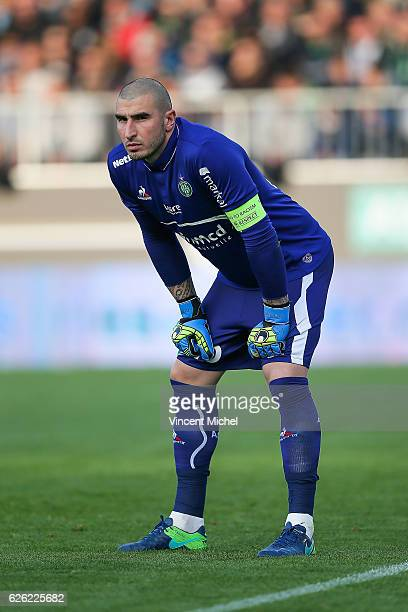 Stephane Ruffier of SaintEtienne during the French Ligue 1 match between Angers and Saint Etienne on November 27 2016 in Angers France