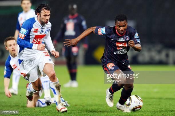 Stephane SESSEGNON Auxerre / PSG 1/4 de finale de Coupe de France Stade Abbe Deschamps Auxerre