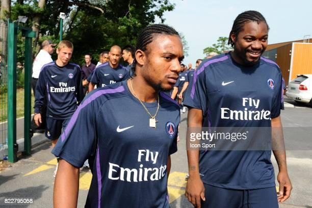 Stephane SESSEGNON / Apoula EDEL Reprise Entrainement du PSG Camp des LOges Saint Germain en Laye