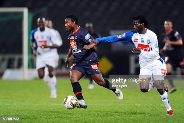 Stephane SESSEGNON / Delvin NDINGA Auxerre / PSG 1/4 de finale de Coupe de France Stade Abbe Deschamps Auxerre
