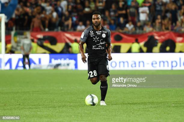 Stephane Sessegnon of Montpellier during the Ligue 1 match between Montpellier Herault SC and SM Caen at Stade de la Mosson on August 5 2017 in...