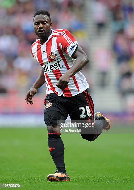 Stephane Sessegnon of Sunderland in action during the Barclays Premier League match between Sunderland and Fulham at the Stadium of Light on August...