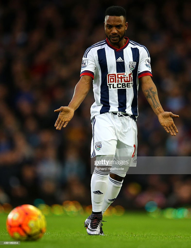 Stephane Sessegnon of West Brom in action during the Barclays Premier League match between West Ham United and West Bromwich Albion at Boleyn Ground on November 29, 2015 in London, England.