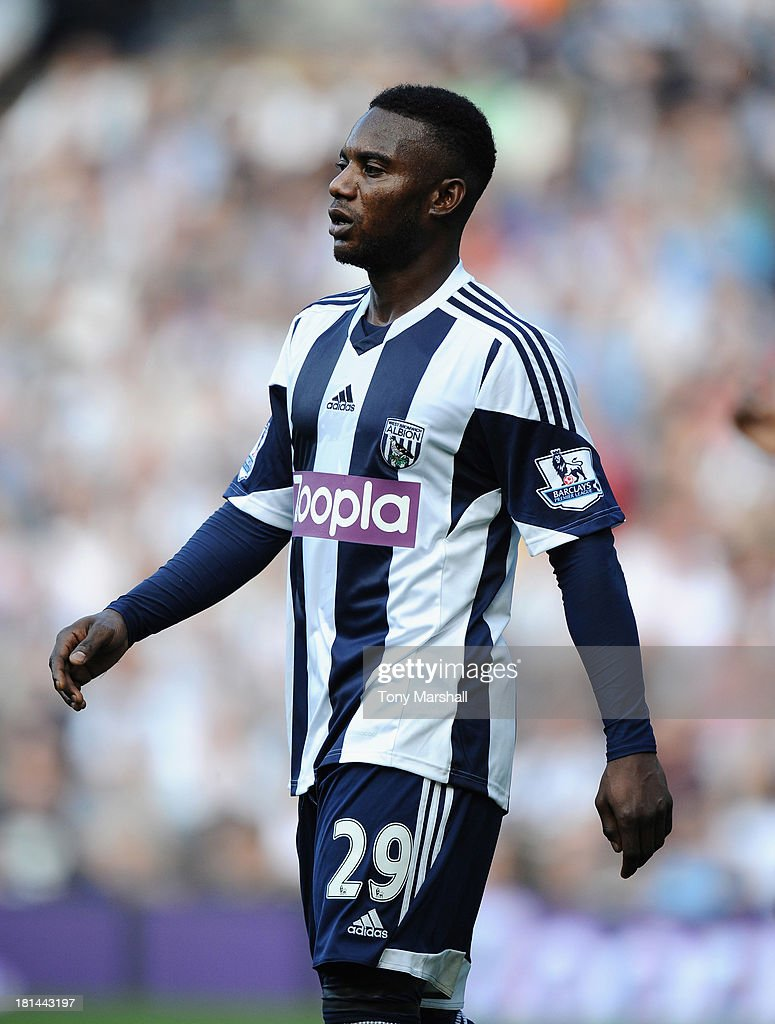 Stephane Sessegnon of West Bromwich Albion during the Barclays Premier League match between West Bromwich Albion and Sunderland at The Hawthorns on September 21, 2013 in West Bromwich, England.
