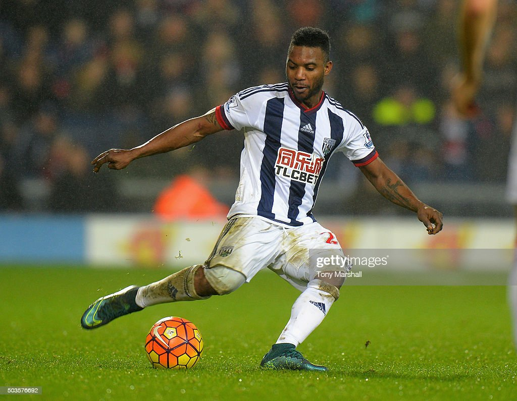 Stephane Sessegnon of West Bromwich Albion during the Barclays Premier League match between West Bromwich Albion and Stoke City at The Hawthorns on January 2, 2016 in West Bromwich, England.