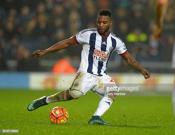 Stephane Sessegnon of West Bromwich Albion during the Barclays Premier League match between West Bromwich Albion and Stoke City at The Hawthorns on...