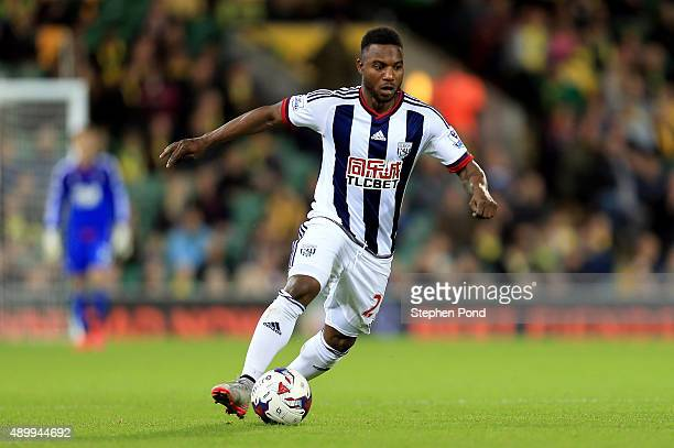 Stephane Sessegnon of West Bromwich Albion during the Capital One Cup Third Round match between Norwich City and West Bromwich Albion at Carrow Road...