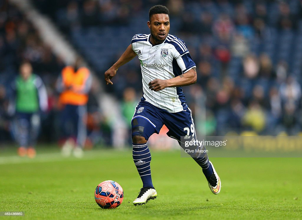 Stephane Sessegnon of West Bromwich Albion in action during the FA Cup Fifth Round match between West Bromwich Albion and West Ham United at The Hawthorns on February 14, 2015 in West Bromwich, England.