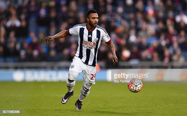 Stephane Sessegnon of West Bromwich Albion in action during The Emirates FA Cup Fourth Round match between West Bromwich Albion and Peterborough...