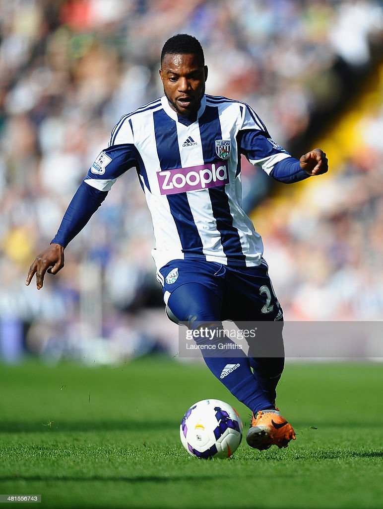 Stephane Sessegnon of West Bromwich Albion in action during the Barclays Premier League match between West Bromwich Albion and Cardiff City at The Hawthorns on March 29, 2014 in West Bromwich, England.
