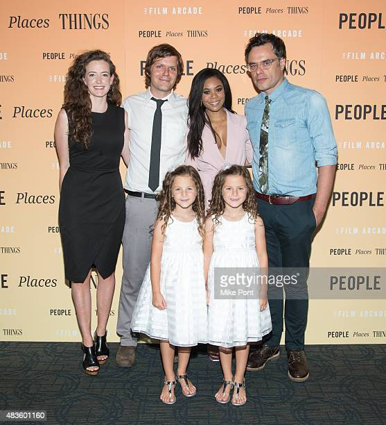 Stephanie Allynne Writer/director Jim Strouse Aundrea Gadsby Regina Hall Gia Gadsby and Jemaine Clement attend the 'People Places Things' New York...