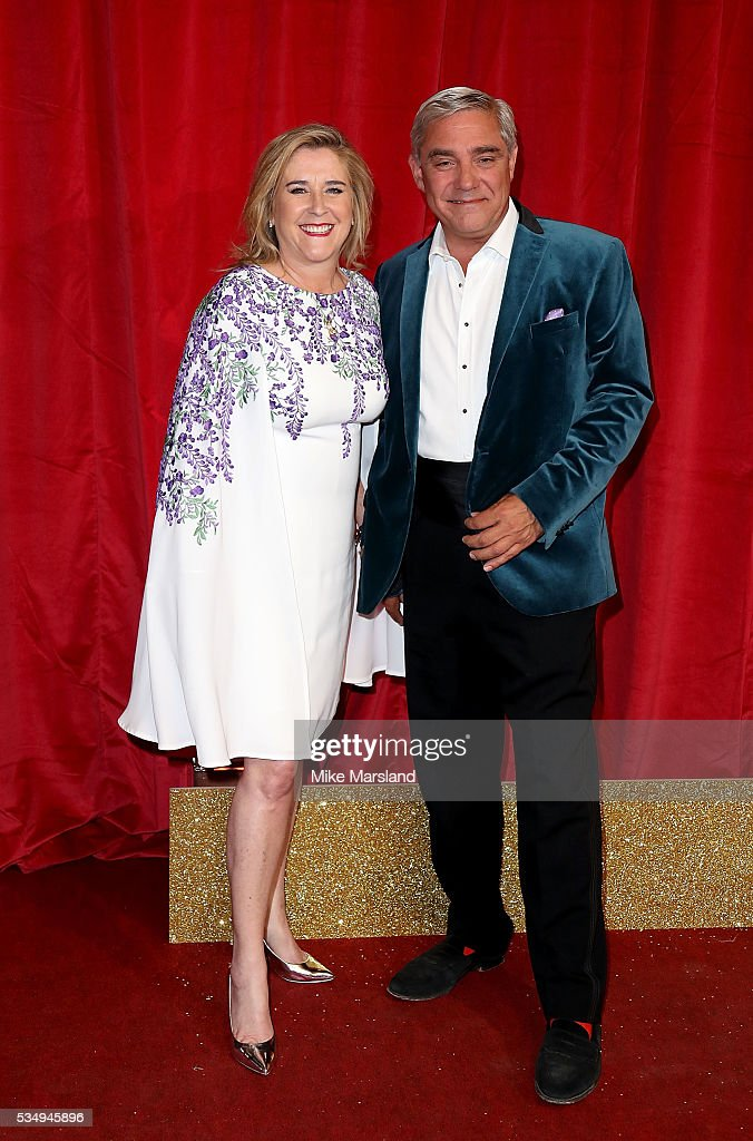Stephanie and Dominic Parker attend the British Soap Awards 2016 at Hackney Empire on May 28, 2016 in London, England.