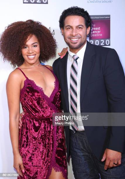 Stephanie Ballena and Jon Huertas arrive at the 17th Annual 'Les Girls' at Avalon on October 15 2017 in Hollywood California