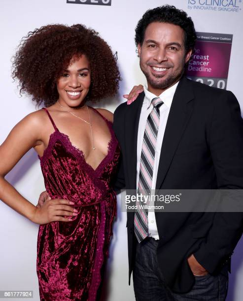 Stephanie Ballena and Jon Huertas attend National Breast Cancer Coalition Fund's 17th Annual Les Girls Cabaret at Avalon Hollywood on October 15 2017...