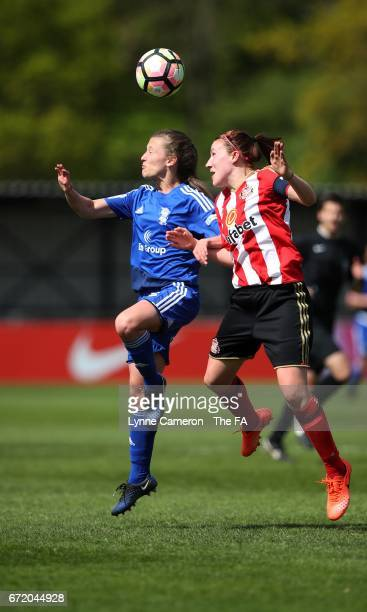Stephanie Bannon of Sunderland Ladies and Charlie Wellings of Birmingham City during the match between Birmingham City and Sunderland Ladies in The...