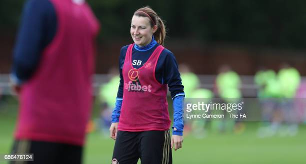 Stephanie Bannon of Sunderland Ladies before the WSL 1 match between Sunderland AFC Ladies and Chelsea Ladies FC at Hetton Centre on May 21 2017 in...