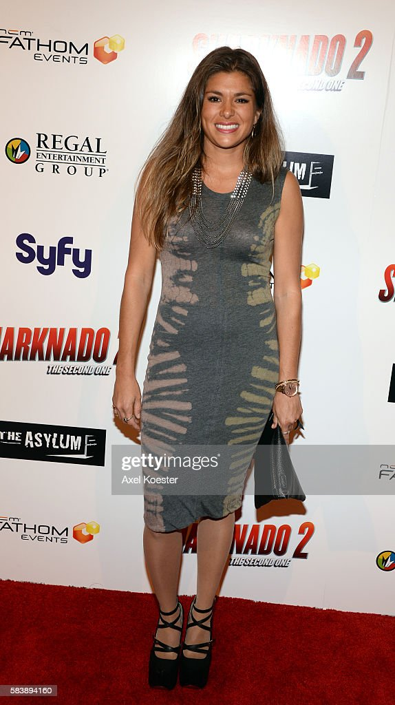 Stephanie Barkley arrives to the premiere of Sharknado 2 The Second One held at the Regal Cinemas at LA Live Thursday evening