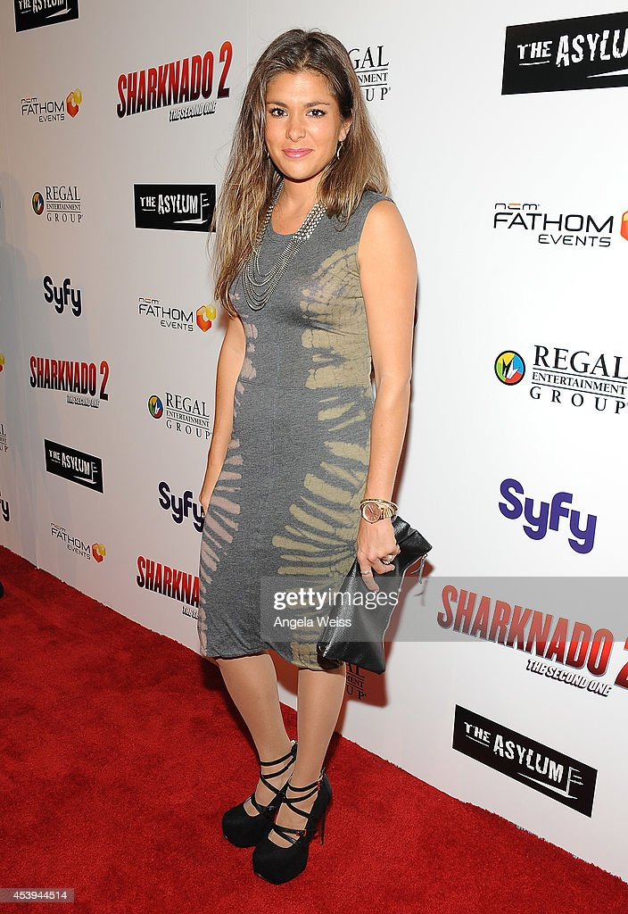 Stephanie Barkley attends the premiere of The Asylum & Fathom Events' 'Sharknado 2: The Second One' at Regal Cinemas L.A. Live on August 21, 2014 in Los Angeles, California.