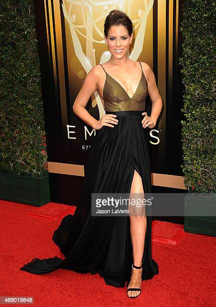 Stephanie Bauer attends the 2015 Creative Arts Emmy Awards at Microsoft Theater on September 12 2015 in Los Angeles California