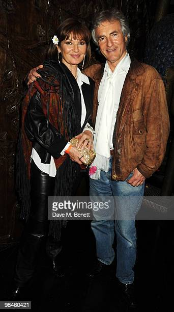 Stephanie Beacham and John McEnery attend the afterparty for Hair at the Gilgamesh on April 14 2010 in London England